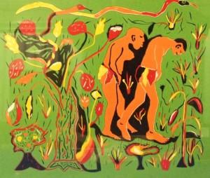 00031K12 Adam en Eva: wegzending uit het paradijs