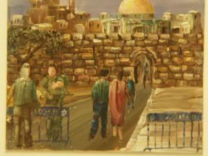 00189K16 Vredevorst. Vraag God om vrede voor Jeruzalem.