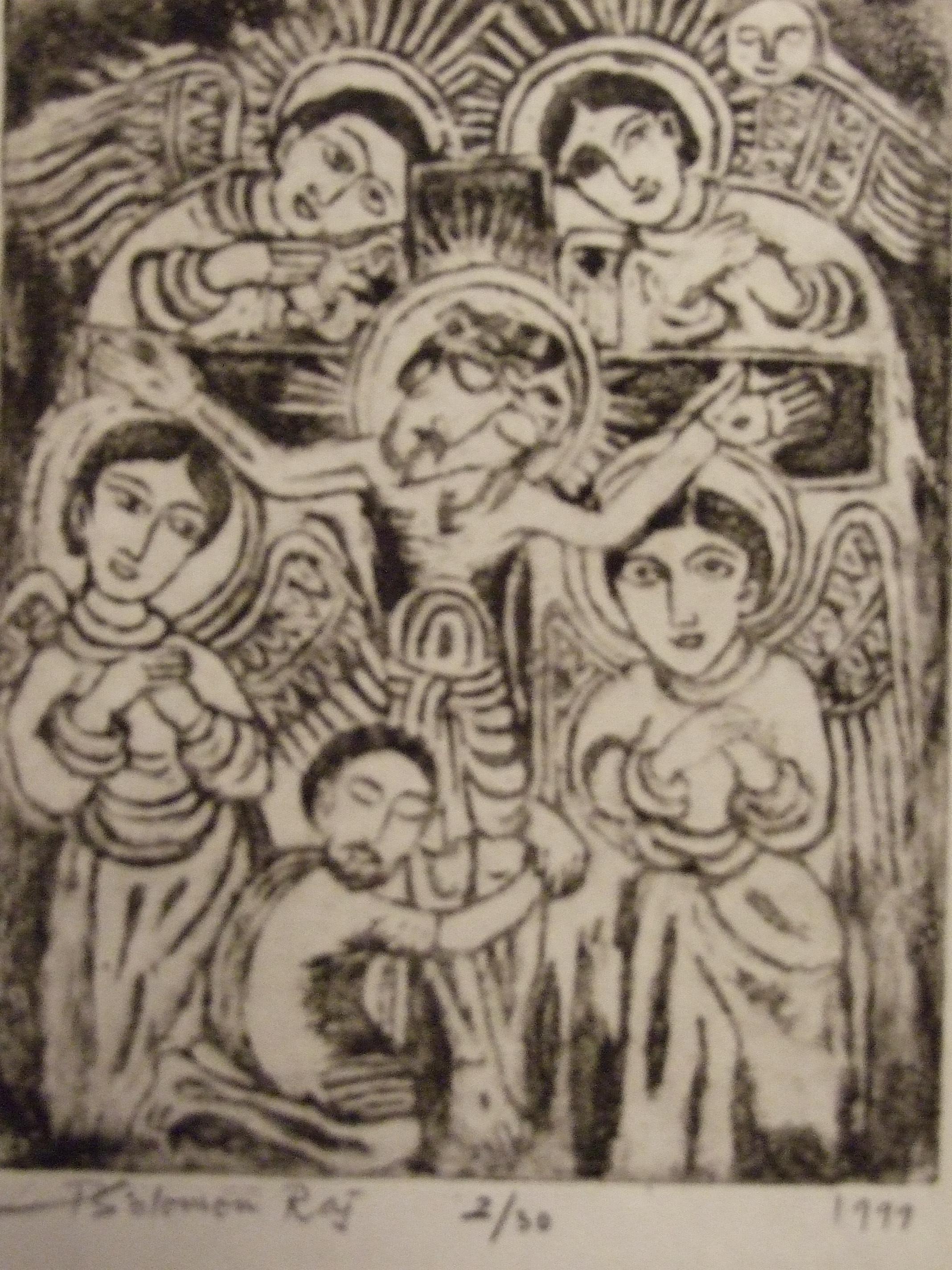 Christus en vier apostelen