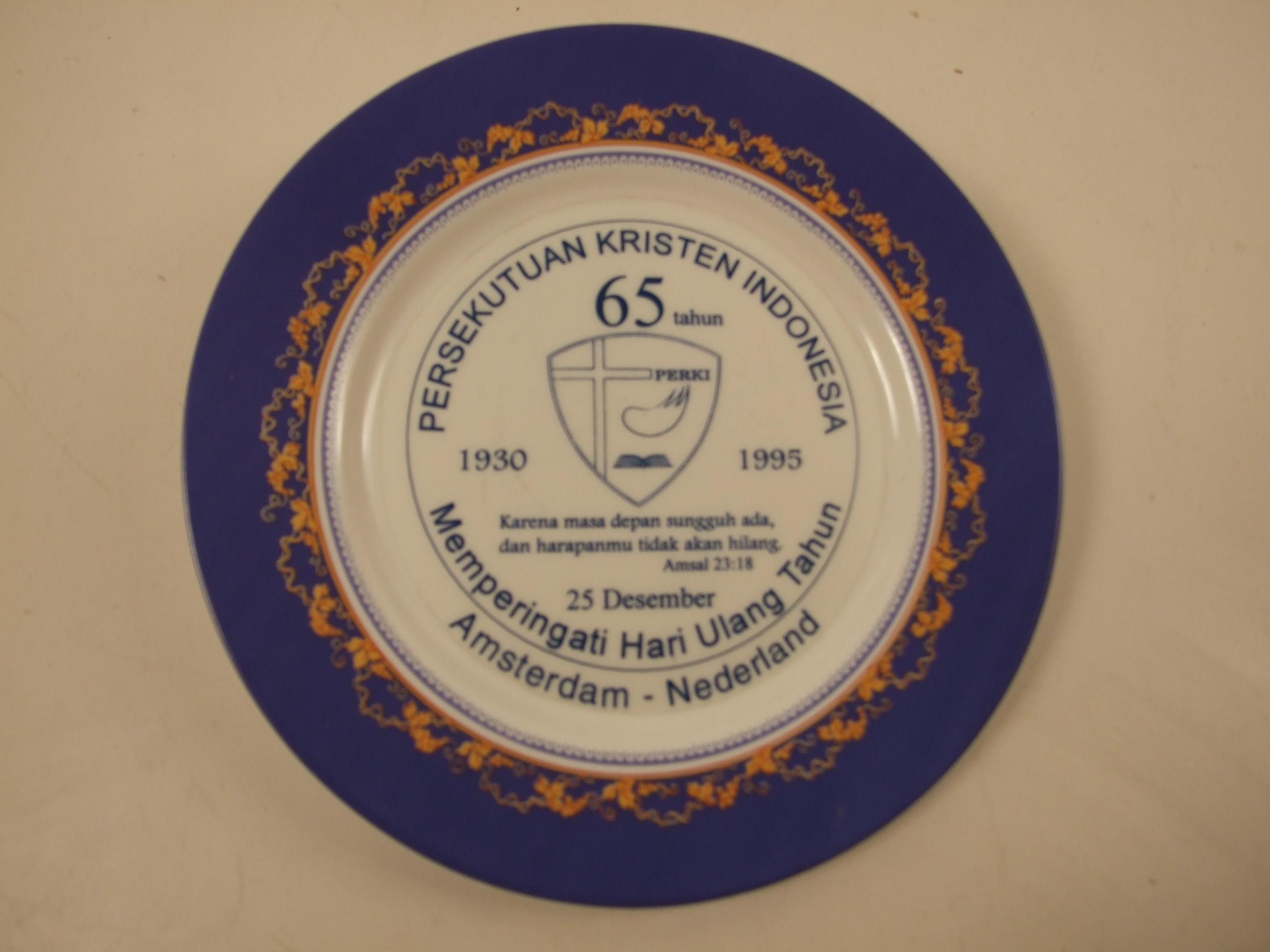 Herdenkingsbord Perki 65 jaar